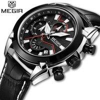 MEGIR Man Quartz Watches Top Luxury Brand Mens Fashion Sport Watch Men Casual Business Chronograph Clock