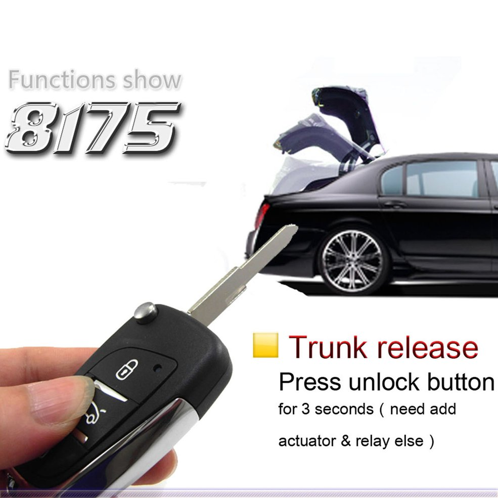 M602-8175DS Universal Remote Control Central Locking Kit Car Door Lock Keyless Entry System With Trunk Release Button