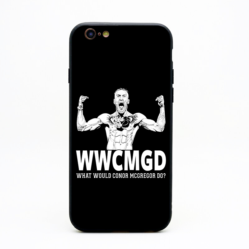Conor Mcgregor Phone Cases TPU+PC Black Covers For Iphone X 6 7 8 Plus 5 5S 6S Se For Apple X Best Diy Case