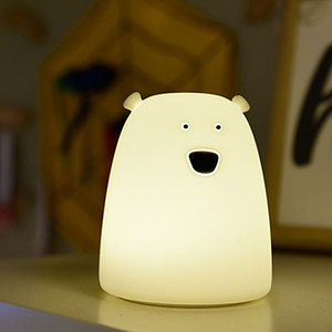 Image 5 - Colorful Bear Silicone LED Night Light Chargeable Battery Touch Sensor light 2 Modes Children Baby Kids Night Lamp Bedroom Light