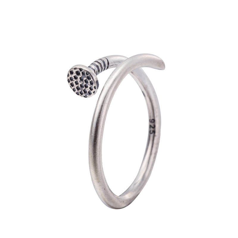 Sterling Silver Adjustable Nail Ring | Boho Fairy