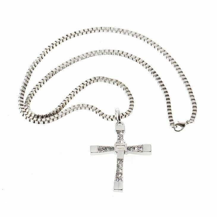 Nowy męski naszyjnik i wisiorek moda Movie biżuteria człowiek klasyczny krzyż naszyjnik mężczyźni Link Chain naszyjniki