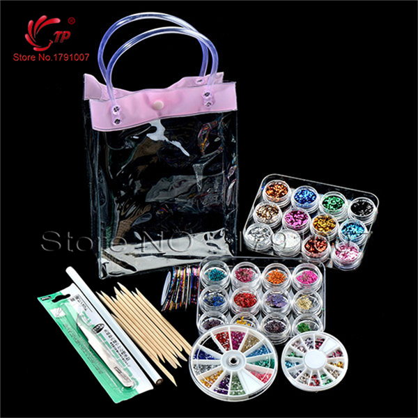 Salon & Personal Nail Art Beauty Care Rhinestones Nail Art Tools Nail Decoration Set Manicure Accessories Kit Tools