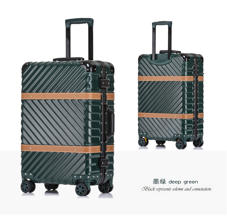 цена на Pure metal full magnesium aluminum alloy suitcase for men and women 20/24/29 inch trolley case boarding luggage travel suitcase