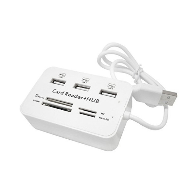 Etmakit All In One USB 2.0 Hub 3 Ports With USB Card Reader Hub 2.0 480Mbps Combo For MS/M2/SD/MMC/TF For PC Laptop NK-Shopping 3