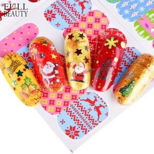 Image 4 - Juego de calcomanías de Navidad para manicura, juego de 44 láminas para uñas, diseños de invierno, CHNJ004