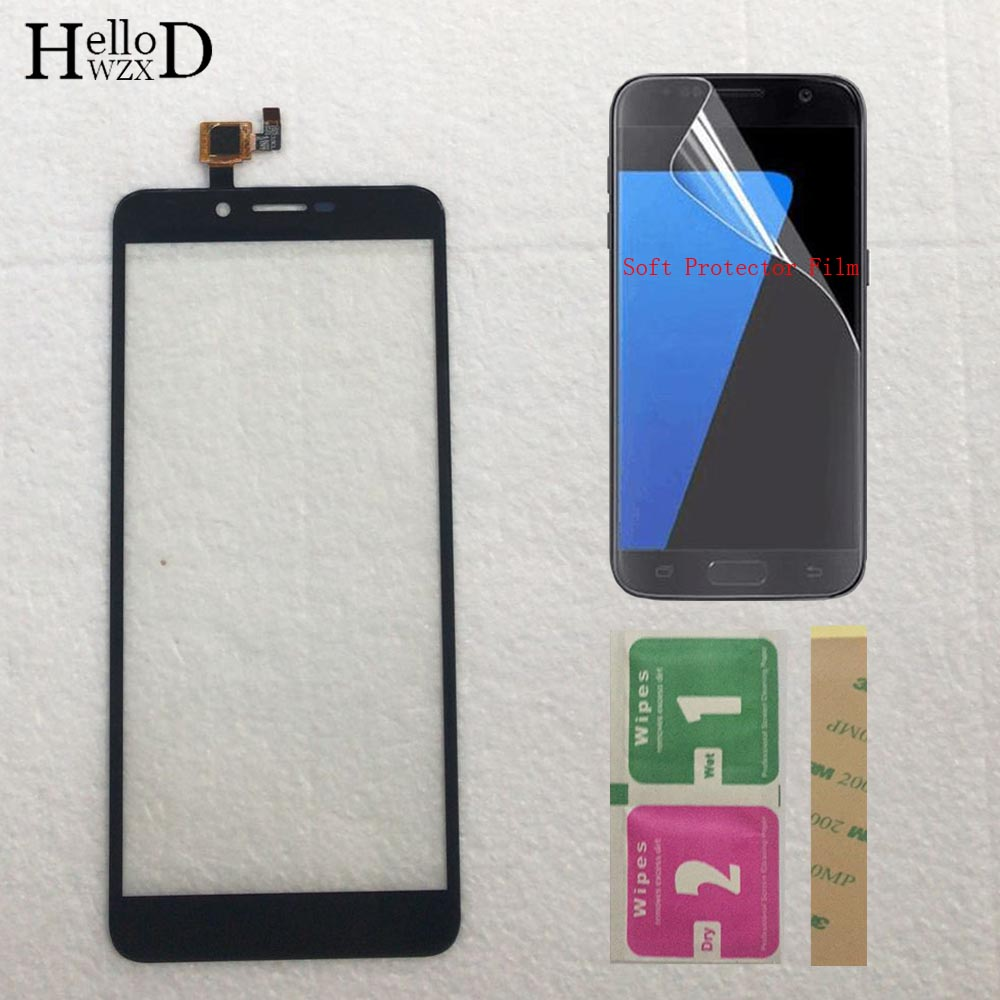 5.5'' Mobile Phone Touch Screen Panel Front Glass Touchscreen Sensor Digitizer Panel For Doogee X60L Free Protector Film 3M Glue