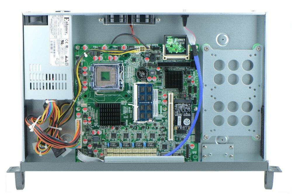 G41 1U rackmount firewall hardware 6*Intel GbE LGA771 supports Xeon processors