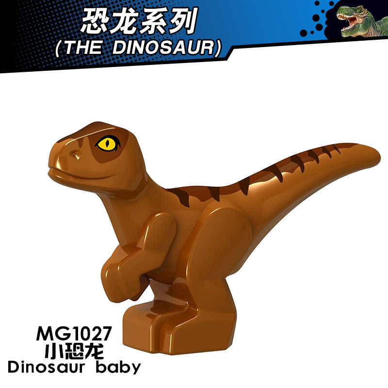 Animals Jurassic Dinosaurs World Park Dinosaur Velociraptor Tyrannosaurus Rex Baby Figures Blocks Toys Legoings Animal L1228 Kit