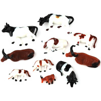 10pcs Ho Scale Animals 1 87 For Model Train Layout Cow New