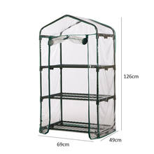 3/4/5-Tier Mini Greenhouse Steel Frame Outdoor Garden Plant Grow House PVC Cover (cover only, shelf not included)(China)