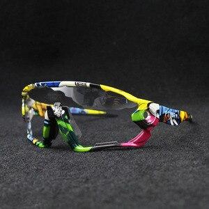Image 3 - 2019 renkli fotokromik bisiklet gözlük UV400 erkek MTB bisiklet bisiklet sürme gözlük TR90 açık spor polarize güneş gözlüğü