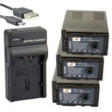 Dste 3 PCS VW-VBG6 bateria Li ion + UDC61 porta USB carregador para Panasonic AG-HMC40 AG-MC130MC AG-AC160MC HDC-MDH1GK-K câmera
