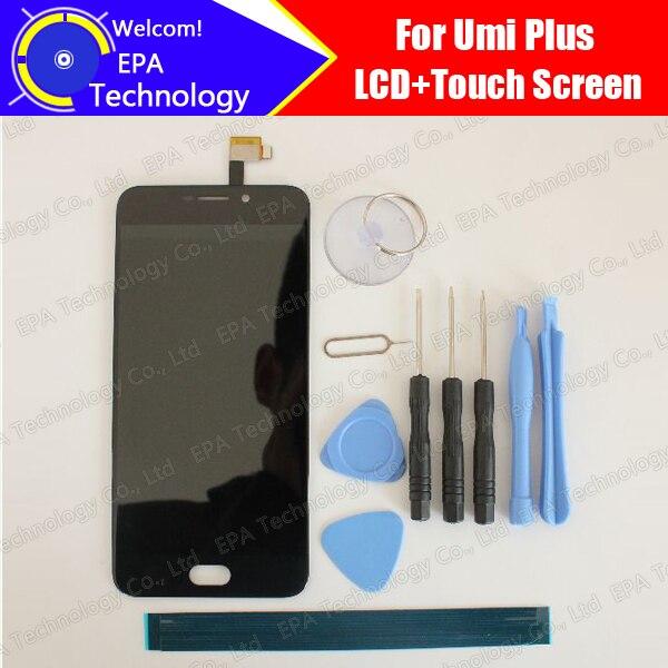 imágenes para Umi plus Pantalla LCD + Pantalla Táctil 100% Original Nuevo Reemplazo de Cristal Del Panel Digitalizador Probado Para plus + Herramientas + adhesivo
