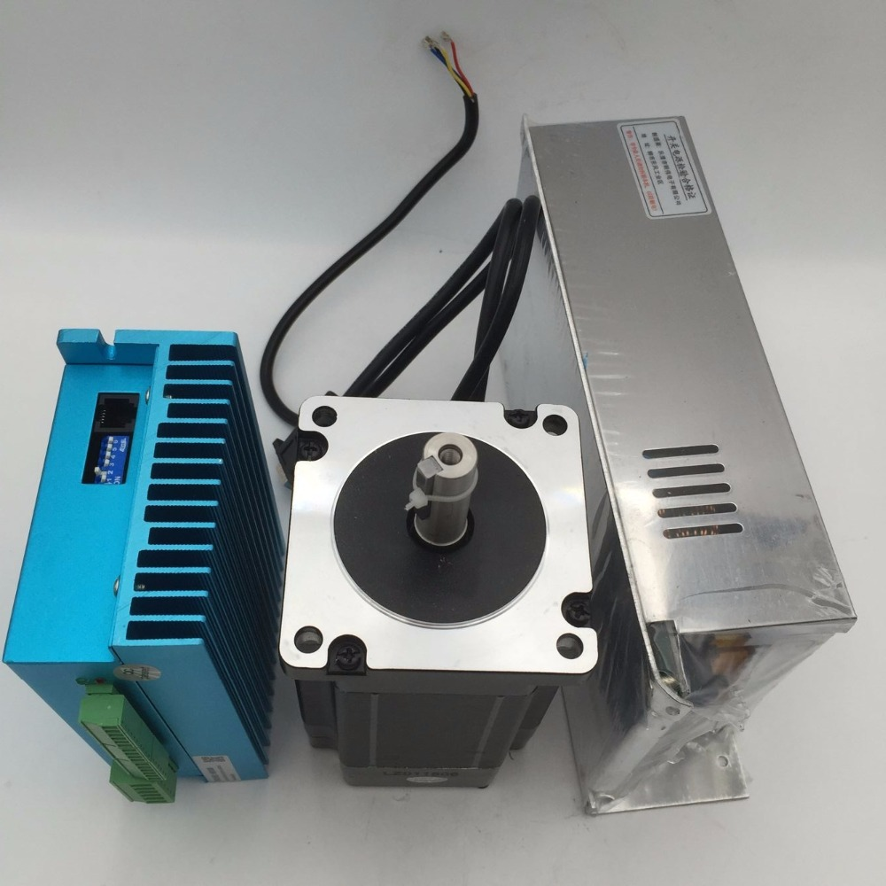 NEMA23 283oz.in 2Nm Hybrid Servo Kit 3Phase Stepper Motor Driver 20-50VDC & 36V Power Supply for CNC Engraving Machine 2 phase 8 5n m closed loop stepper servo motor driver kit 86j18118ec 1000 2hss86h cnc machine motor driver
