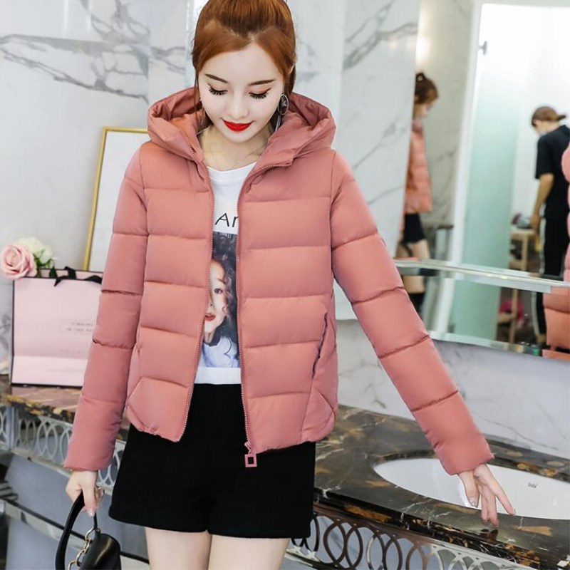 2018 Brand Autumn spring Women   Basic     Jacket   Female Slim clothes Zipper Hooded Cotton Coats Casual Winter   Jackets   plus size
