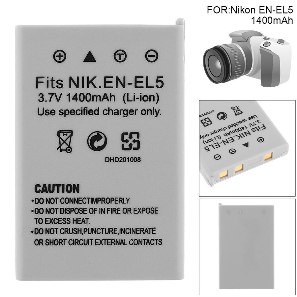 Nikon EN-EL5 Rechargeable Li-Ion Battery for Coolpix,White