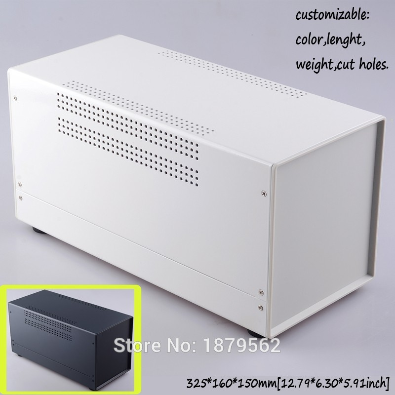 Intelligent [2 Colors] 325*160*150mm Housing Diy Electrical Panel Box Iron Enclosure Metal Cases Iron Junction Box Plc Control Switch Case