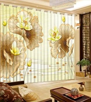 3d Curtains simple beauty 3d curtain Living room 3d window curtain painting