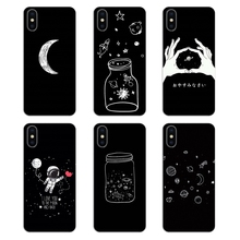 438b42121478c Silicone Phone Bag Case black white moon stars space For Huawei Honor 5A LYO -L21