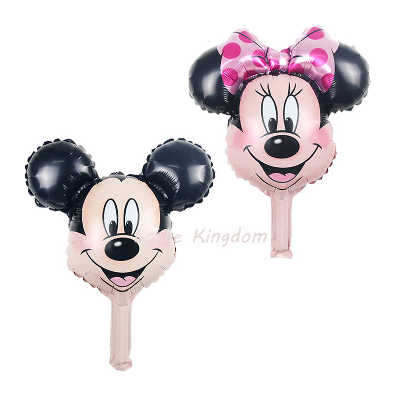 50pcs/lot Mini Balloon Cartoon Mickey Minnie Mouse Foil Balloons Birthday Party Decoration Globos Childrens Inflatable Air Toys