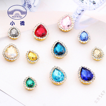 20PCS Glitter Loose Sewing Rhinestones Mix Color Glass Decorative Waterdrop Crystal For Clothing S133