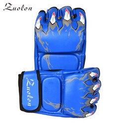 Halb Finger Boxen Handschuhe Männer Gants De Boxe MMA Luva Boxe MMa Handschuhe Kampf-trainingshandschuhe Luva De Box PU Sandsack boxen Ausrüstung