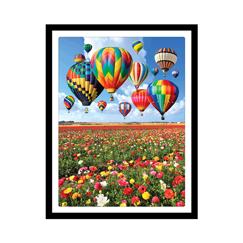 Round Diamond 5D DIY Diamond Painting quot Color Balloon quot Landscape 3D Diamond Embroidered Cross Embroidery Mosaic Decoration in Diamond Painting Cross Stitch from Home amp Garden