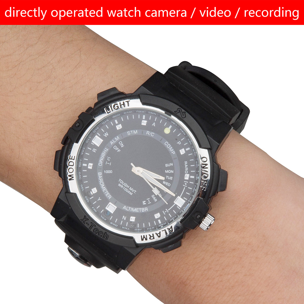 2017 Wifi Smart Watch Camera With 1280*720P Resolution 90 Support APP IR Remote Control LED Light IP Camera Video Recording
