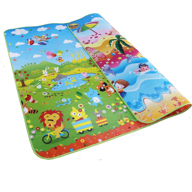 Baby Crawling Mat Ocean Animal Infant Soft Puzzle Floor Play Mats Carpet