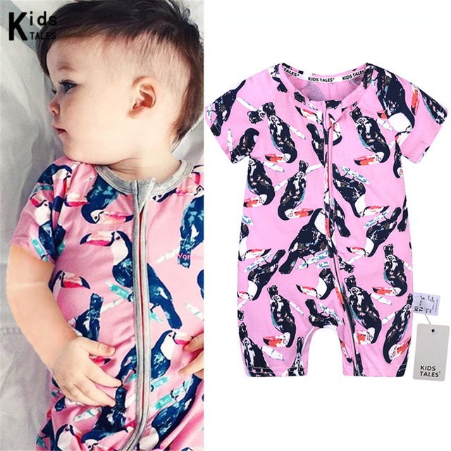 Summer childrens cotton overalls for little girls clothes with short sleeve for little boys rompers clothes roupas bebe