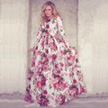 2015 New Maxi Dress Casual Women Dresses  long  groove O-Neck Chiffon Ankle-Length Long Dress Plus Size S-xl