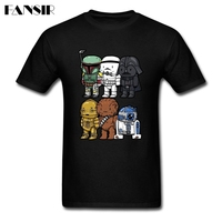 Tailored Tees Shirt Male Short Sleeve O Neck Star Wars Cartoon Teenage Clothing Men Tshirt
