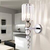 Новый современный настенный светильник наборный хрустальный шар хромисветодио дный рованный светодиодный настенный бра свет украшения до