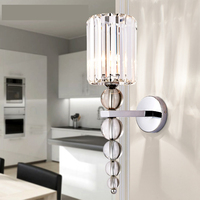 New Modern Wall Lamp Stacked Crystal Ball Chrome Led Wall Sconce Light Home Decoration Indoor Lighting Fixture