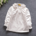 Baby Girl Shirts Autumn Spring Kids lace collar Long-sleeve Underwear Cotton Clothing Girl white T shirts 818