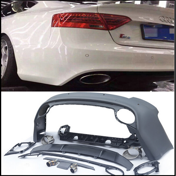 pp-rs5-rear-bumper-with-exhaust-pipe-rear-spoiler-rear-diffuser-etc-auto-body-kits-bodykits-for-audi-a5-s5-2008-15-change-to-rs5