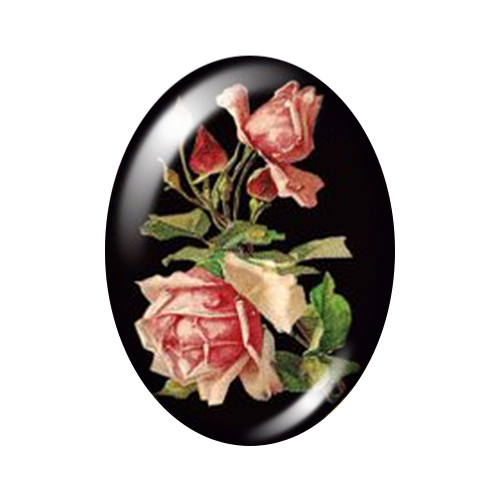 Красивые Винтажные Цветы Роза Маргаритка 10 шт. 13x18 мм/18x25 мм/30x40 мм овальные фото стекло кабошон демонстрационная плоская задняя часть изготовление TB0043 - Цвет: E
