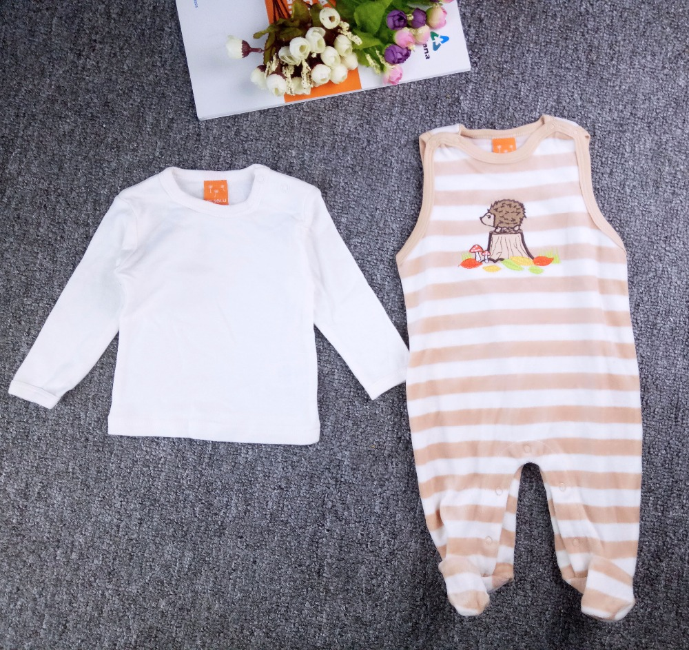 2pcs rompers overall for a boy girls winter baby clothing roupa infantil menina christmas clothes baby jumpsuit