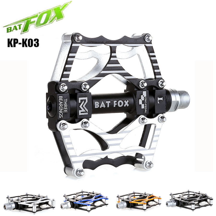 цена на BATFOX Cycling Pedal BMX Bicycle Pedal Titanium Non-slip Alloy MTB Sports Bike Pedals Mountain Road Ultralight Bike Pedals K-Y03