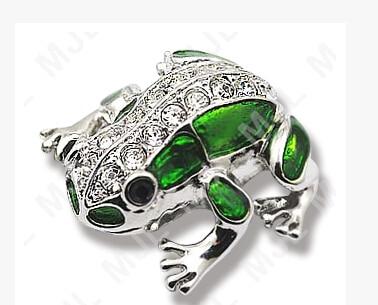 2014 Hot Selling genuine 1G 2G 4G 8G 16G 32G 64G usb flash memory CARD stick usb drive jewelry frog animal S299