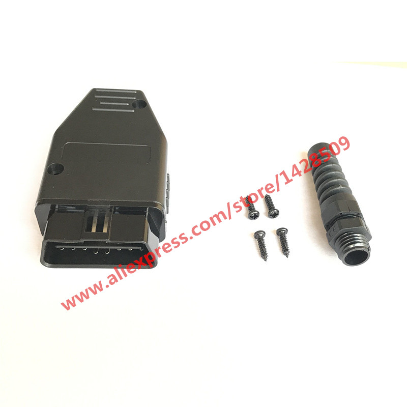 Universal OBDII 16 Pin/Way Male OBD2 OBD 2 Automotive Connector Plug OBD-II Socket universal 38 pin to 16 pin obd obd2 obdii diagnostic adapter connector cable for mercedes benz cy096 cn