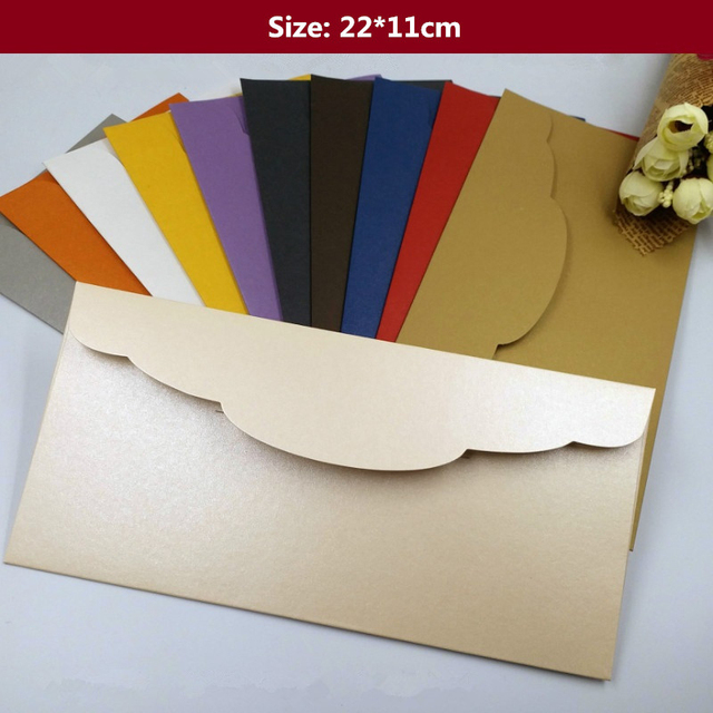 50pcs 858429 250gsm color pearl paper envelopes business 50pcs 858429 250gsm color pearl paper envelopes business invitation wedding invitations envelope reheart Image collections