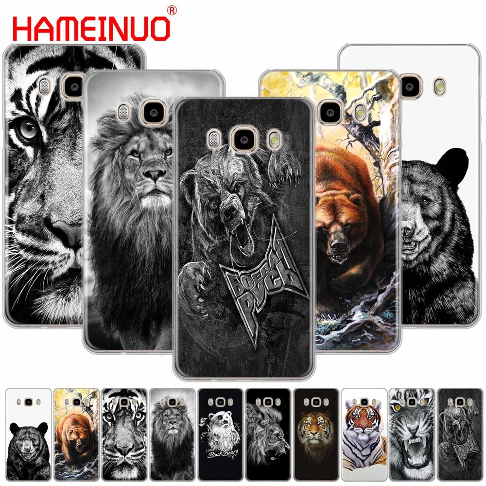 HAMEINUO russian bear tiger lion cover phone case for Samsung Galaxy J1 J2 J3 J5 J7 prime MINI ACE 2016 2015