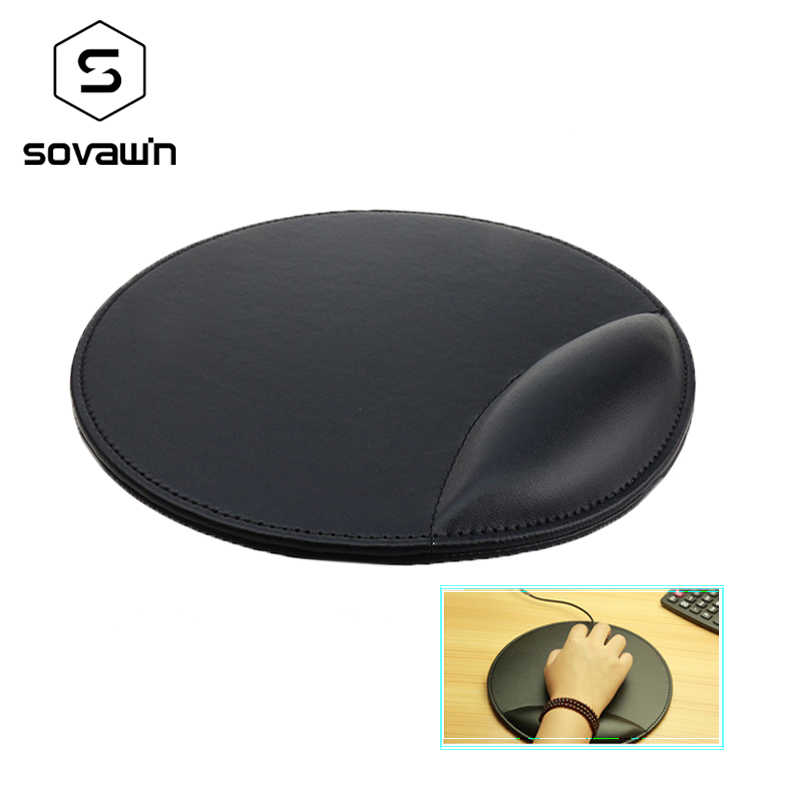 SOVAWIN Mouse Pads Black Mouse Mat Leather Anime Wrist Rest Gaming Mouse Pad Slip Natural csgo Lock Edge for PC for Notebook