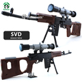 SVD Sniper Rifle 35inch Gun 90cm Building Blocks Set 712pcs Bricks Compatible with lego Parts Modesl & Building Weapon Toys Army