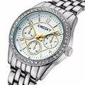 Kingsky relógio das mulheres de luxo famosa marca de moda de nova ladies bracelet relógios de pulso pequeno mostrador relógios de quartzo