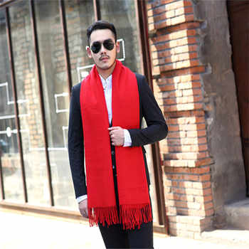 Winter Warm Male Tassels Scarf Cashmere Scarves Men fashion Cachecol Wool soft Shawl Wraps Luxury Brand high Quality solid Scarf