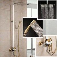 2017卸売高品質高級ソリッドブラスゴールデン浴室シャワーセット
