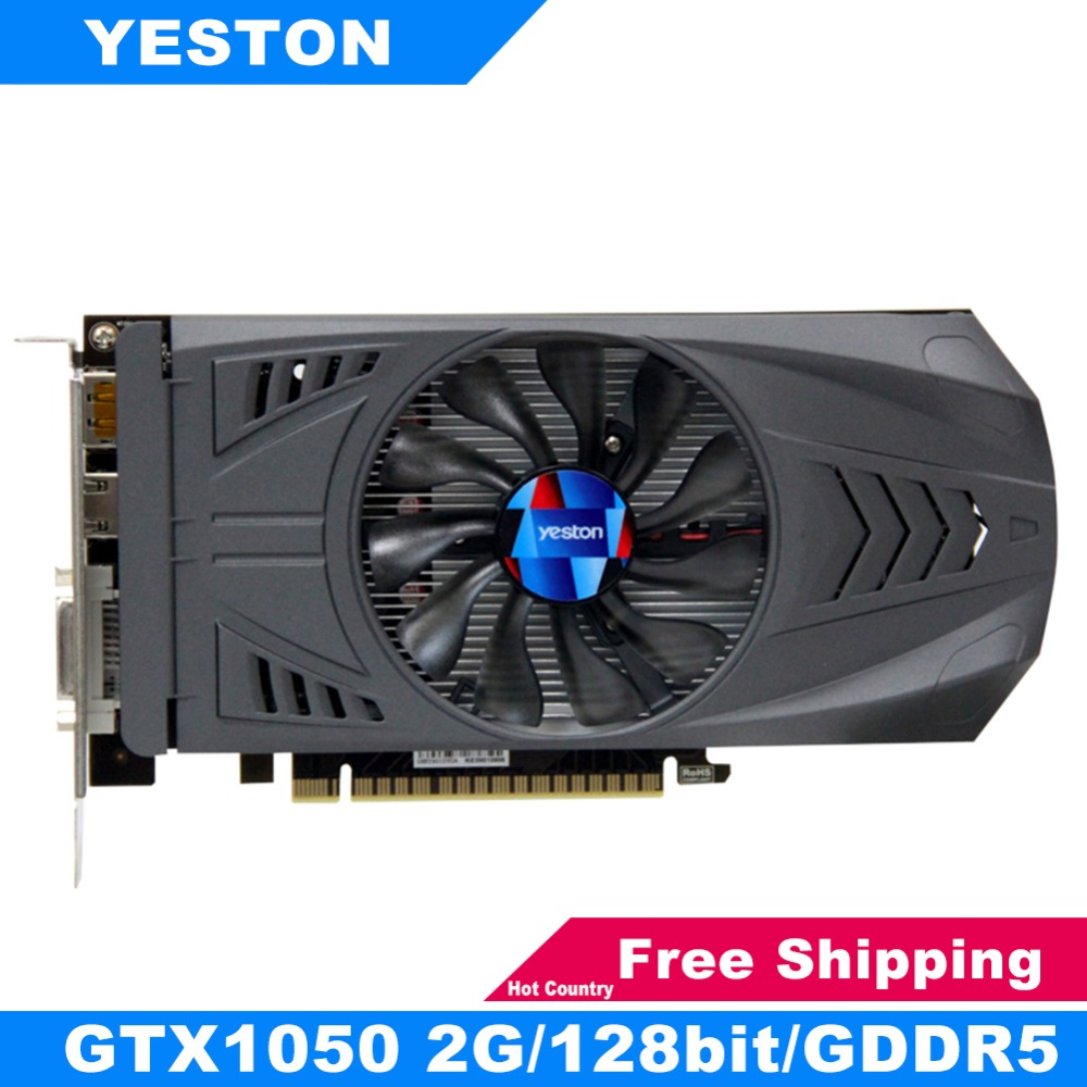 Yeston For Nvidia Geforce GTX 1050 Graphic Gaming Video Card 2G GDDR5 128bit PCI-E 3.0 GTX 1050 HDMI DVI Computer GPU For Game видеокарта 2048mb msi geforce gtx 1050 pci e 128bit gddr5 dvi hdmi dp hdcp gtx 1050 gaming x 2g retail
